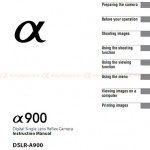 Download Sony Alpha DSLR-A900 User Manual