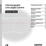 Sony NEX-3 and NEX-5 User Manual is Available for Download