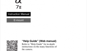 Sony Alpha A7 Mark II User Manual